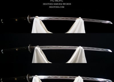 肥後虎模擬刀・標準型・2尺3寸5分・革巻き・印籠刻鞘