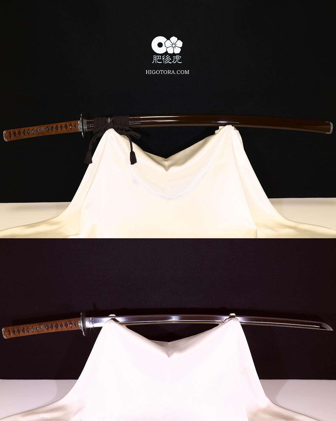 真剣諸工作例・模擬刀身に真剣の拵を誂えた一例