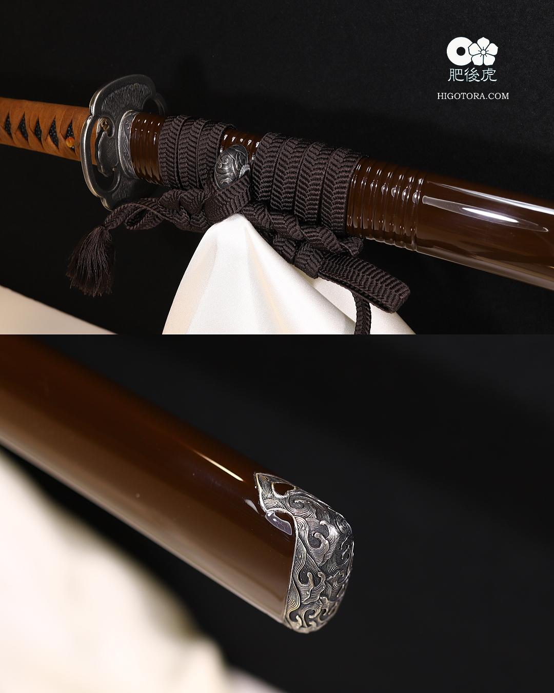 居合道用模擬刀・模擬刀身に真剣の拵を誂えた一例