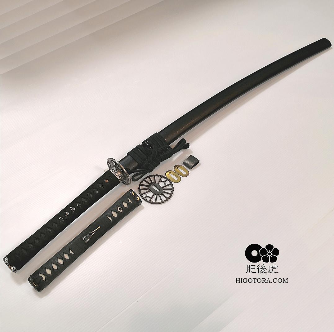 居合刀の柄・鍔・切羽・ハバキの交換